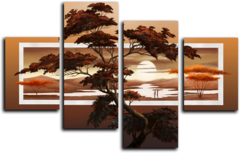 """Модульная картина """"Закат над Африкой"""""""