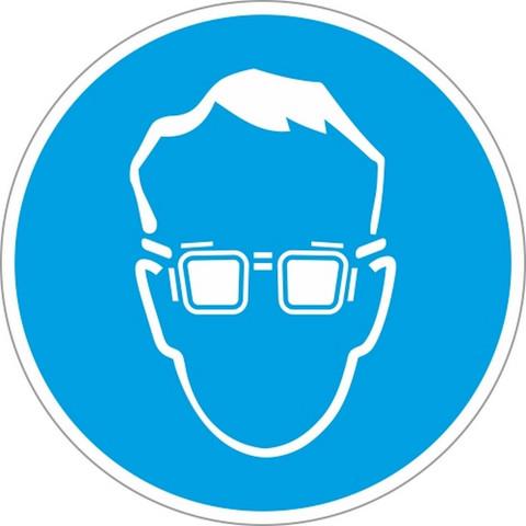 M01 Работать в защитных очках (плёнка ПВХ, 200х200)