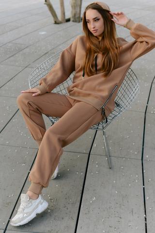 Спортивный костюм на флисе коричневый Nadya