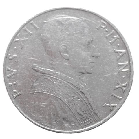 50 лир 1957 год, Ватикан. aUNC