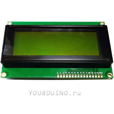 Дисплей LCD2004 (зеленый) + I2C Конвертер