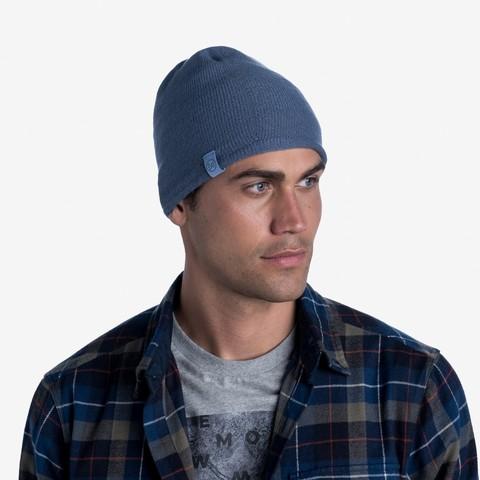 Вязаная шапка Buff Hat Knitted Lekey Ensign Blue фото 2