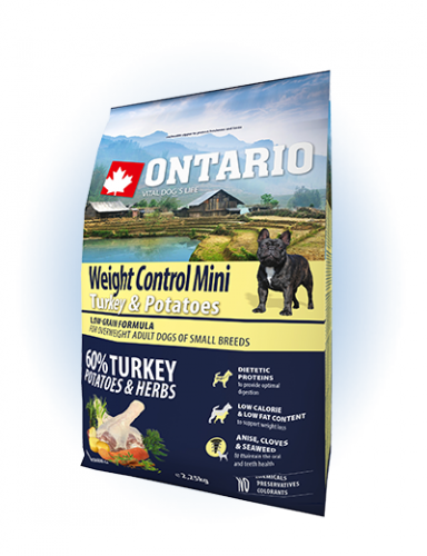 Ontario Mini Weight Control Turkey & Potatoes 2,25 кг