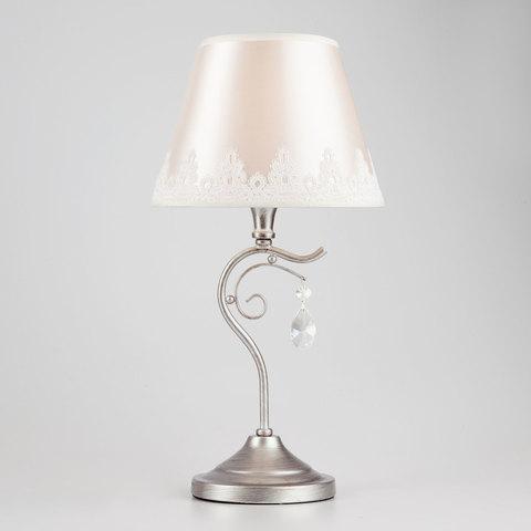 Классическая настольная лампа 01022/1 серебро