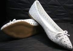 Самые красивые балетки Vasari Gloria 19Y38860-37 White.