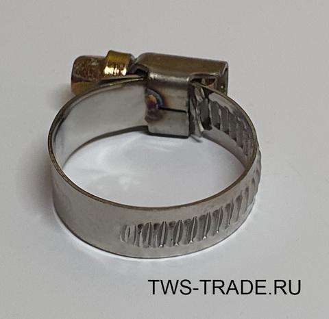 Хомут червячный 16-25 мм W2 (нержавеющая сталь)