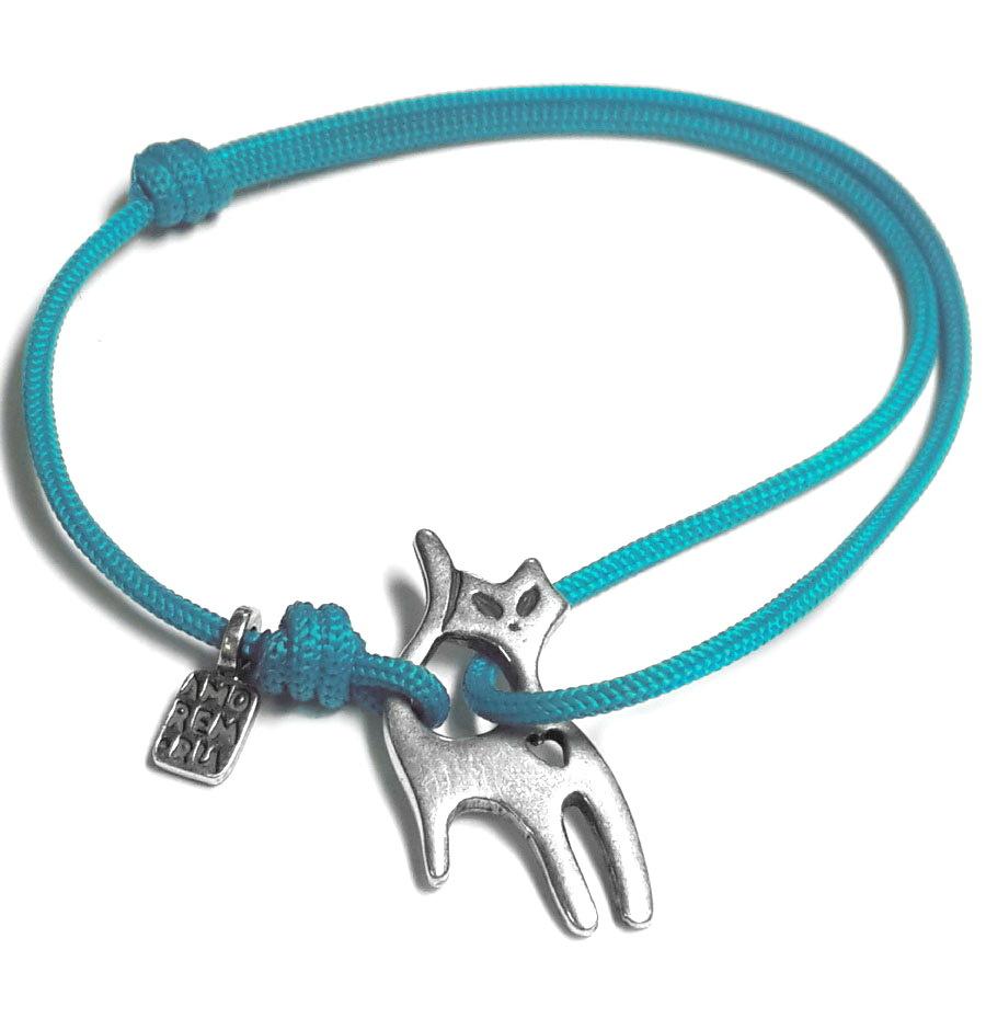 Cat bracelet, sterling silver