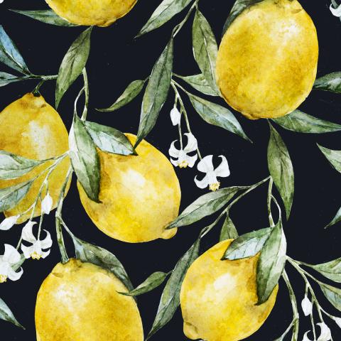 Лимончики (темный фон)