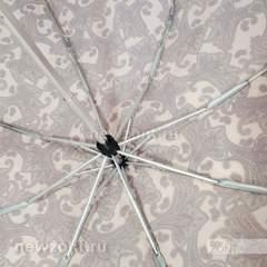 Компактный женский мини зонт Art Rain коричневатый с узорами