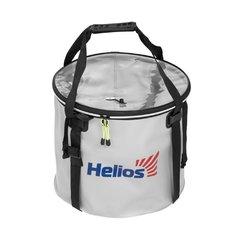 Ведро складное с крышкой Helios 35х30см ПВХ (HS-АТ-035-35)