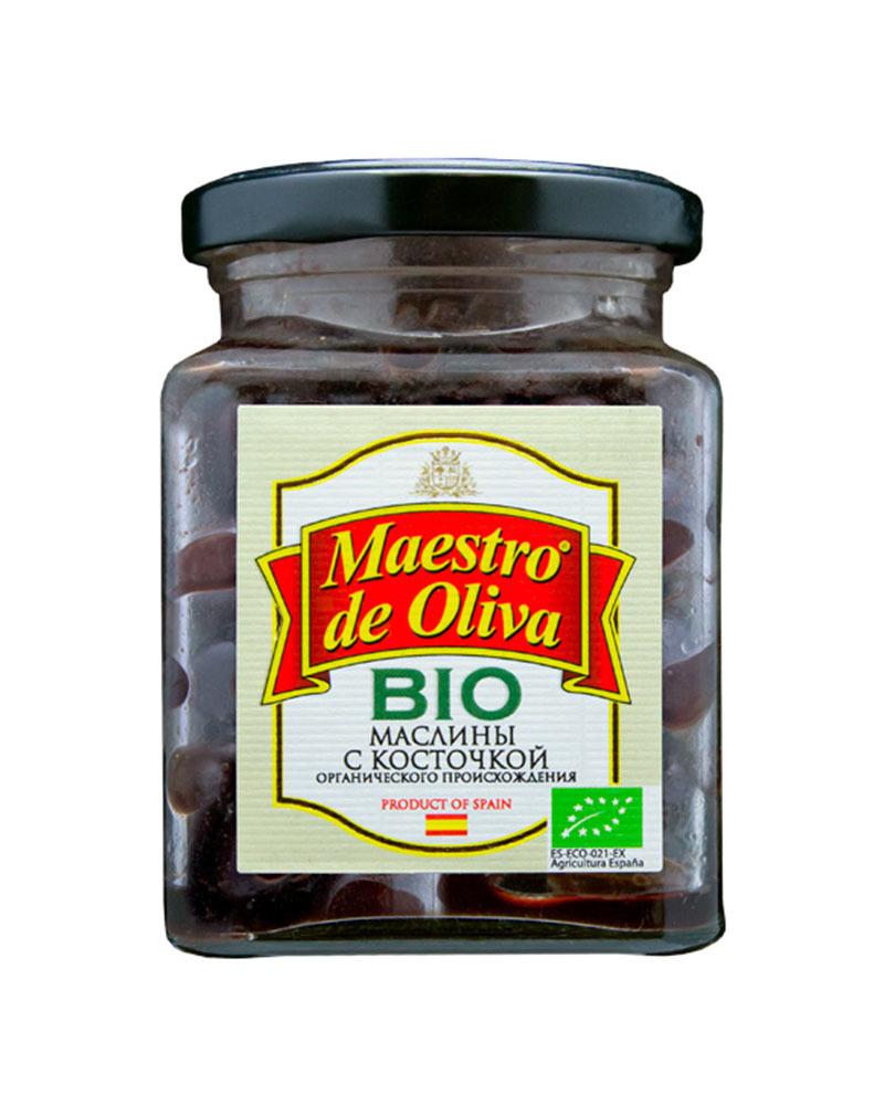 Маслины Маэстро дэ Олива без рассола с косточкой БИО 150гр.