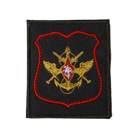 Шеврон нарукавный ЦОВУ Сухопутных войск (олива, красный кант)