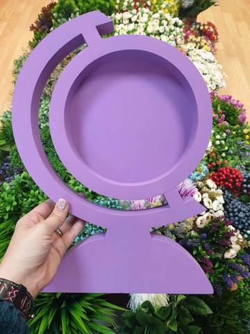 Пенобокс Глобус фиолетовый