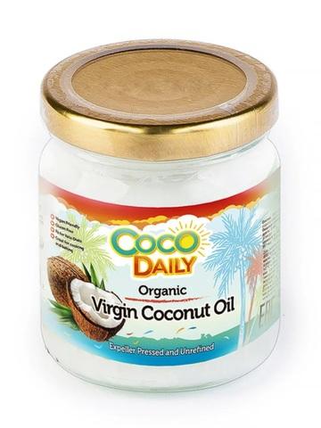 Coco Daily, Органическое кокосовое масло нерафинированное холодного отжима, 195мл