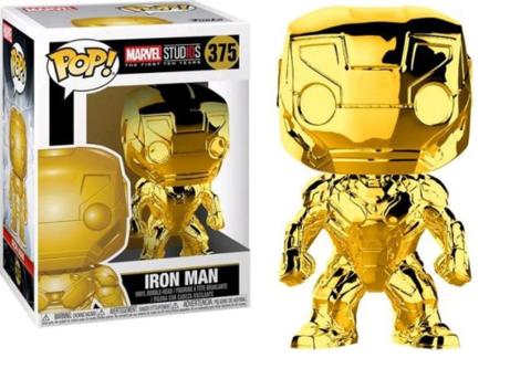 Фигурка Funko POP! Bobble: Marvel: MS 10: Iron Man (Chrome) 33434