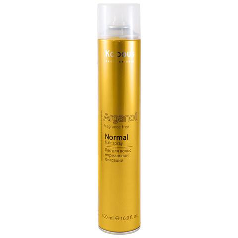 Лак аэрозольный для волос нормальной фиксации с маслом арганы Kapous, 500ml.
