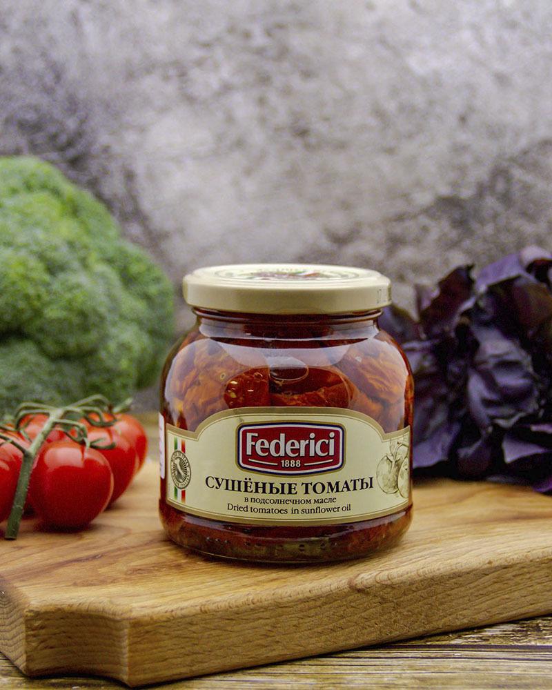 Сушеные томаты в подсолнечном масле Federici 280 гр.