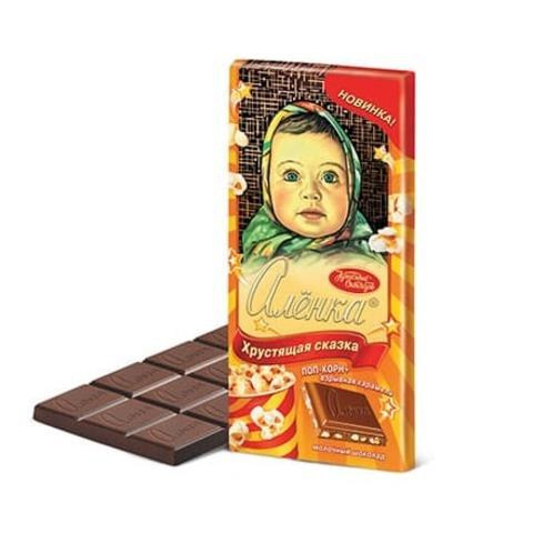 Шоколад Алёнка Хрустящая сказка, Красный Октябрь, 100 гр.