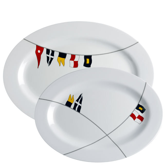 MELAMINE OVAL SERVING DISH SET, REGATA