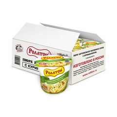 Картофельное пюре Роллтон с куриным вкусом 40 г (24 штуки в упаковке)