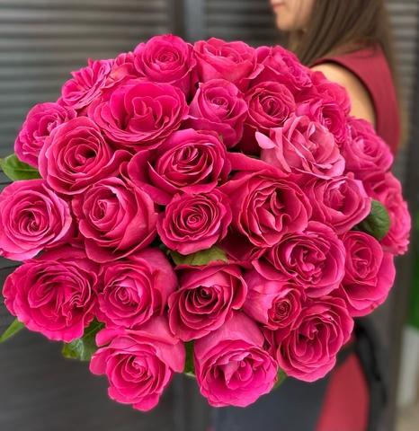 Букет из 29 розовых роз 60 см #767766