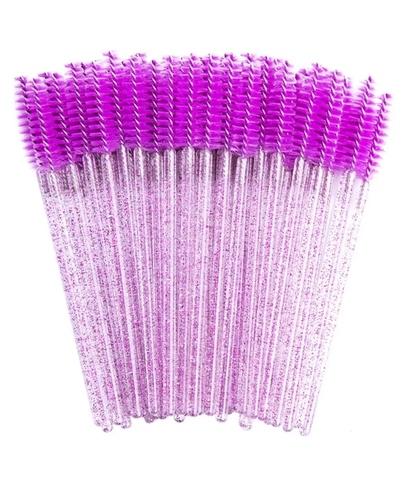 Щеточки для расчесывания ресниц фиолетовые 50 шт.
