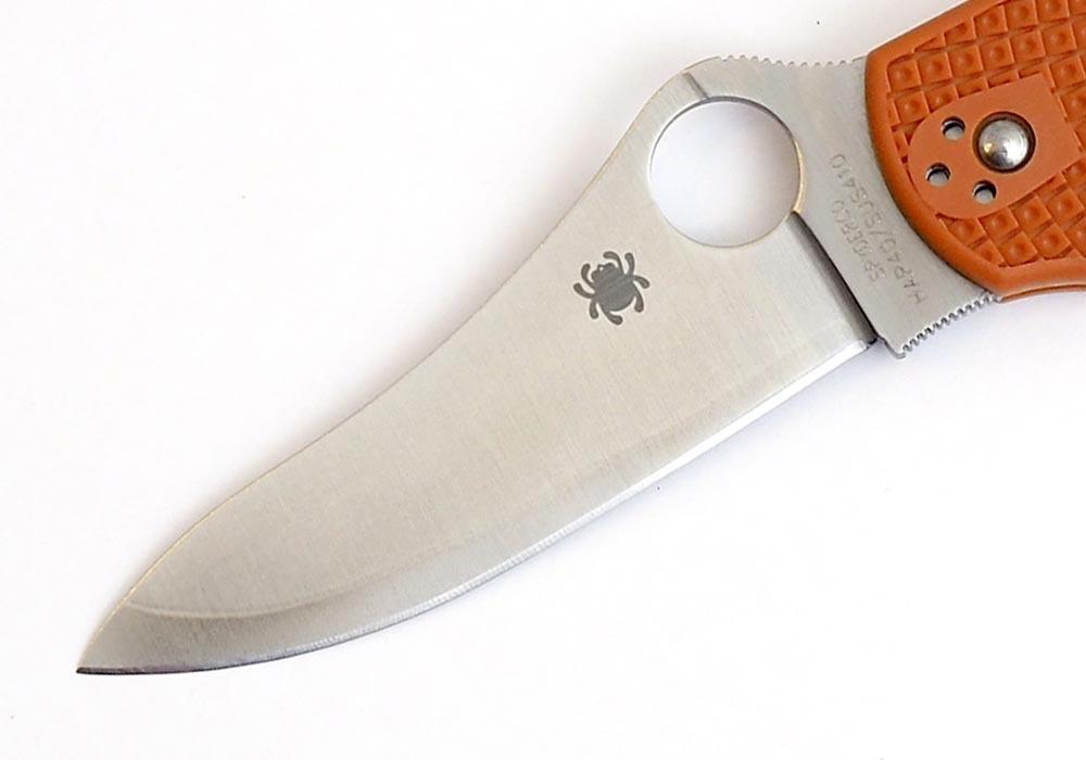 Нож Spyderco Stretch C90FPBORE Sprint Run оранжевый - фотография