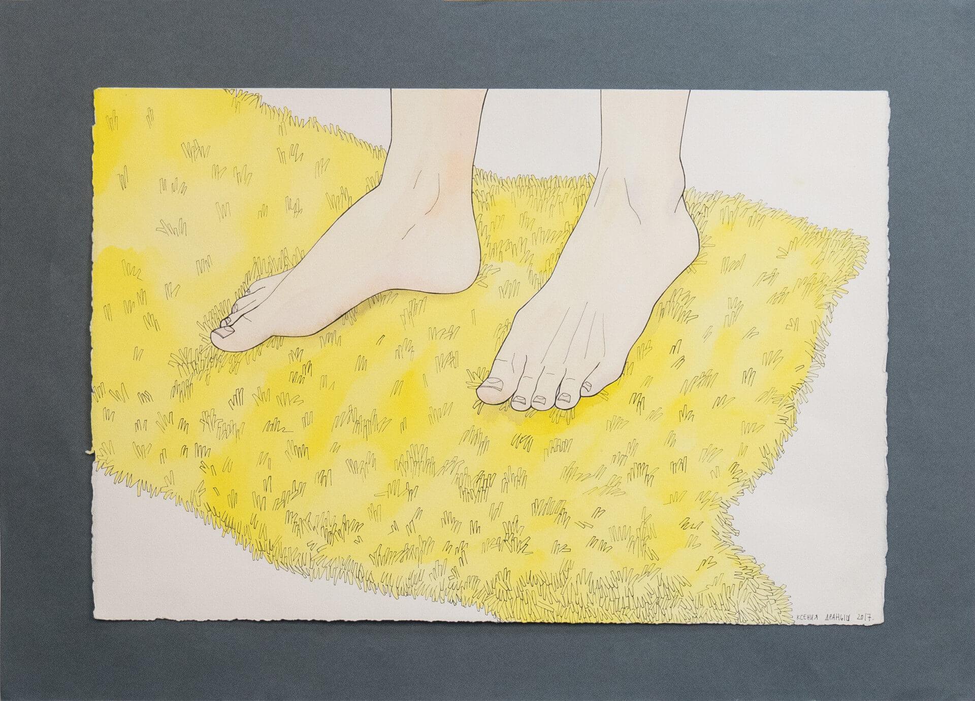 Желтый ковер