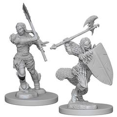 Pathfinder Deep Cuts Unpainted Miniatures - Half-Orc Female Barbarian
