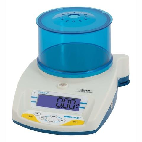 Весы лабораторные/аналитические CAS ADAM HCB-153, LCD, АКБ, 150.005, 150гр, 0,005гр, Ø120 мм, с поверкой, высокоточные
