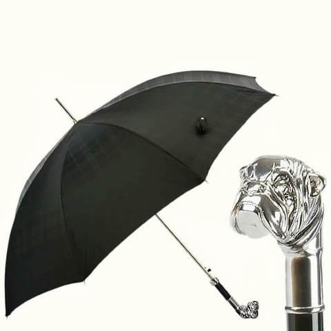 Зонт серебряный бульдог премиум класс