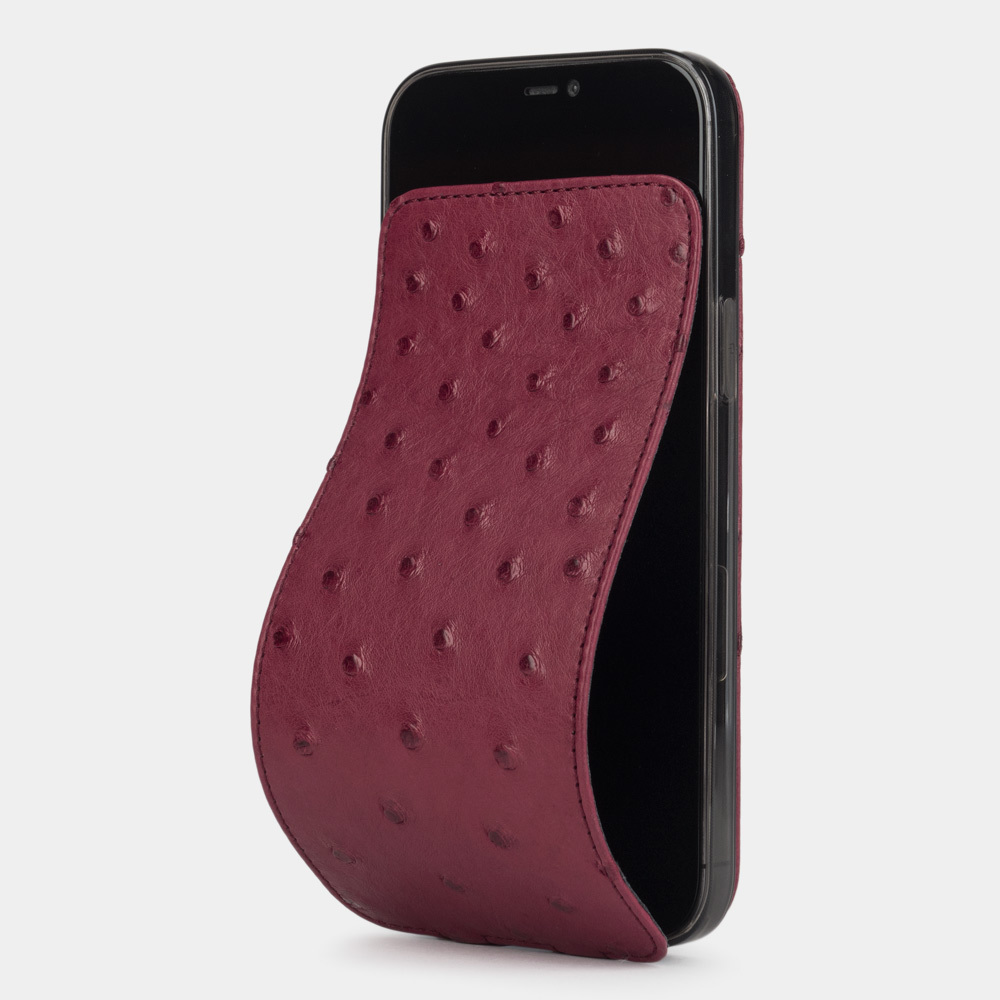 Case for iPhone 12 Pro Max - ostrich fushia