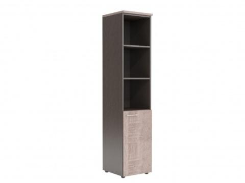 XHC 42.5(L/R) Шкаф колонка с глухой малой дверью и топом (425х410х1930)