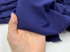 Хлопок кулирка темно-синий 15*15 см