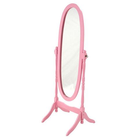 Зеркало овальное напольное МК-2301-PN, цвет розовый