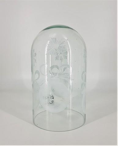 Стеклянная колба (Колпак, клош, купол, ваза, цилиндр) с рисунком 15*25