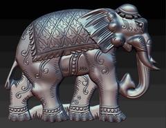 Силиконовый   молд  № 1552   Слон 2 D правый малый