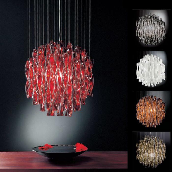 Подвесной светильник копия AURA by AXO LIGHT D 45 cm (красный)