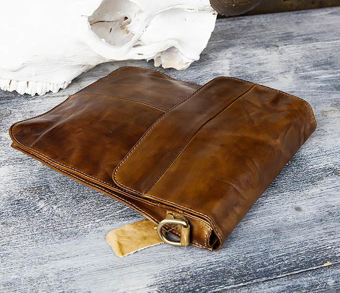 BAG441-2 Мужская сумка из гладкой кожи с ремнем на плечо фото 05
