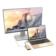 USB адаптер Satechi Aluminum Multi-Port Adapter 4K c Ethernet, золотой