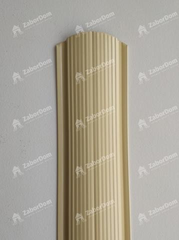 Евроштакетник металлический 110 мм RAL 1014 фигурный 0.5 мм