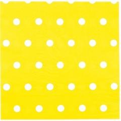 Салфетка Горошек желтая 33см