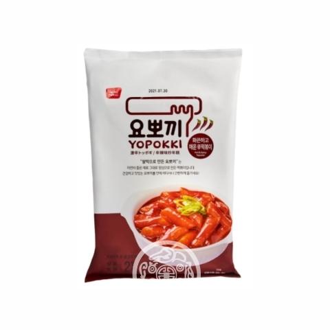 Рисовые клёцки Токпокки Yopokki  б/п c острым пряный соусом 240г Корея