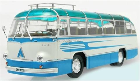 LAZ-695B Tourist bus lightblue-white Ultra Models 1:43