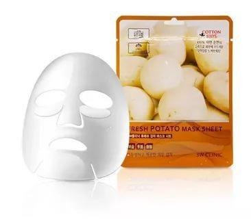 Тканевая маска с экстрактом картофеля 3W Clinic Fresh Potato Mask Sheet