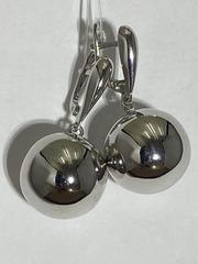 Шары 1,8 (серьги из серебра)