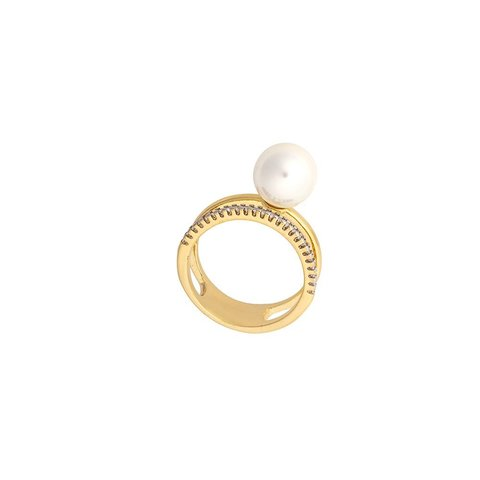 Кольцо White Pearl 16.5 мм K0942.1/16.5 BW/G