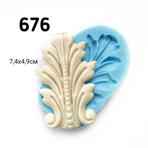 0676 Молд силиконовый. Накладка орнамент.