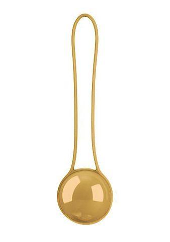 Золотистый вагинальный шарик Pleasure Ball Deluxe