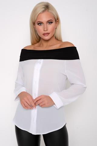 <p><span>Ультромодная рубашка со спущенным плечом. Модель эффектно подчеркнет Вашу женственность и индивидуальность.&nbsp;</span></p>